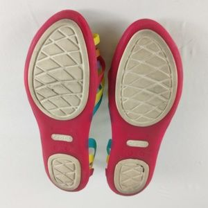 CROCS Shoes - CROCS Rainbow Jelly Flats
